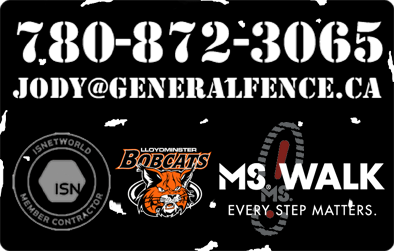 General fence sponsors the Lloydminster Bobcats and supports Multiple Sclerosis research through the MS Walk (Every step matters). General Fence is also a member contractor of ISNetworld.