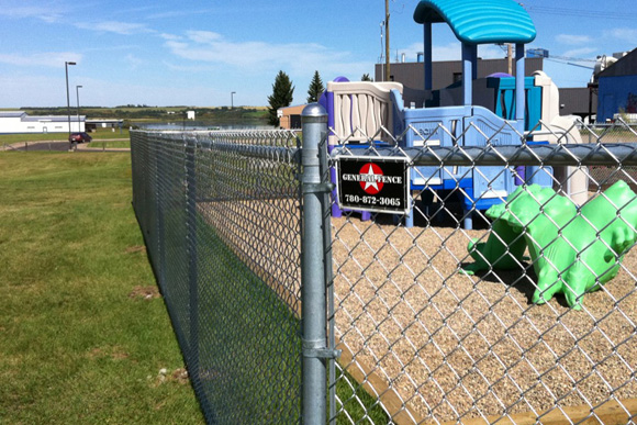 Chainlink fence installed by General Fence around a local playground